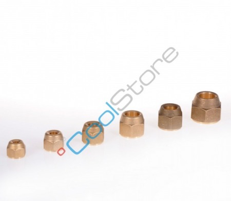 "Flare nut brass 3/8"" SAE x 8 mm"